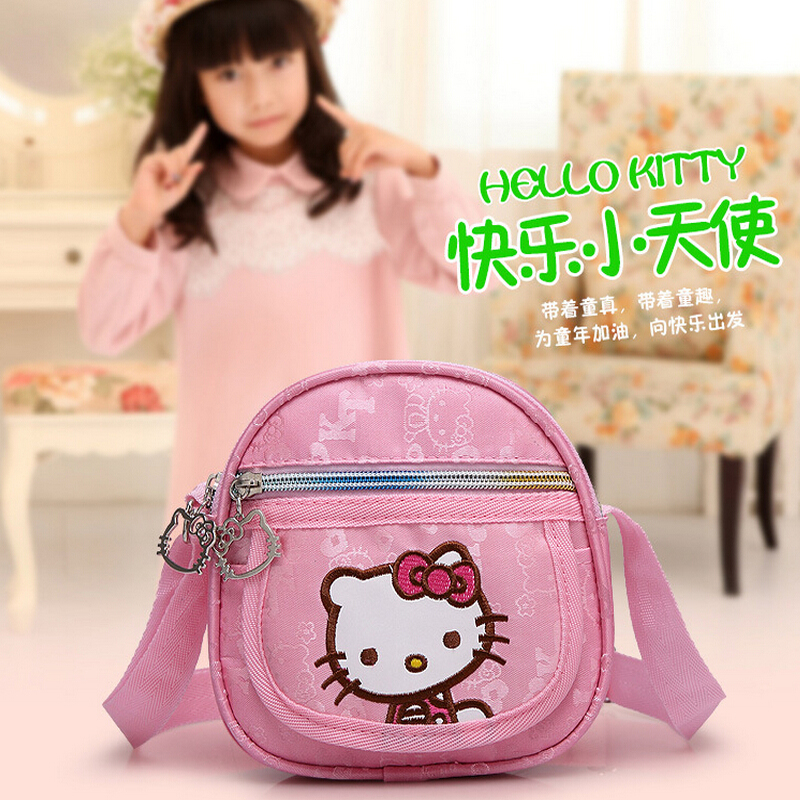 Kindergarten girls Korean Fashion Hello Kitty Messenger Bag handbags school kids(China (Mainland))