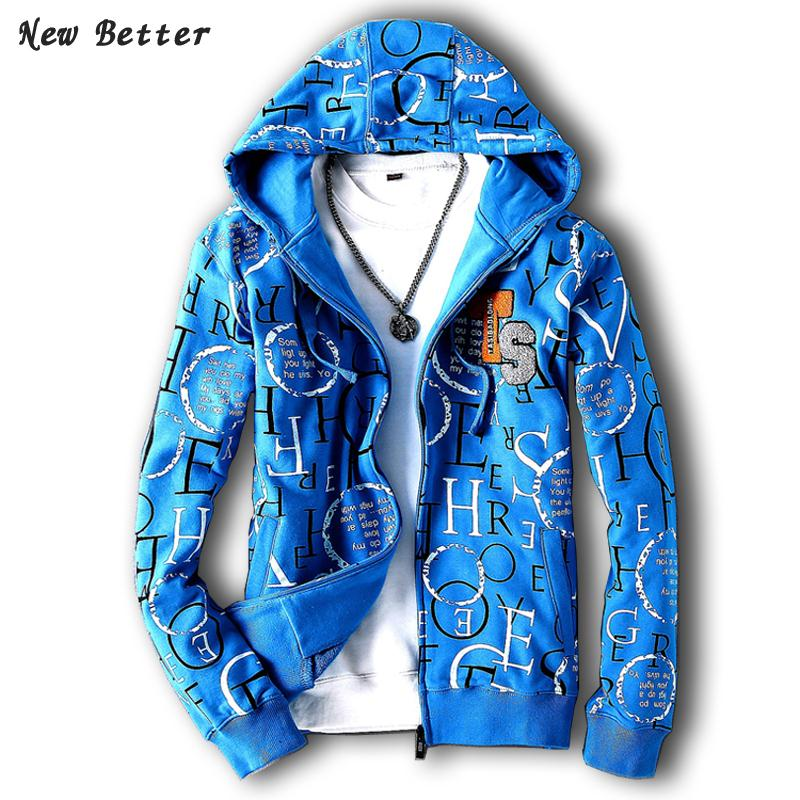 2015 casual hip hop jacket men high quality slim fit mens jackets and coats Autumn spring men's thin hooded jacket Plus size 5XL