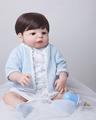 55cm Full Body Silicone Reborn Baby Doll Toys Lifelike Play House Toy Newborn Boy Baby Christmas