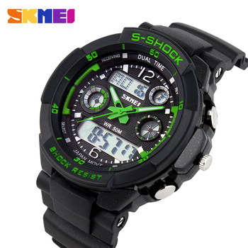 2015 Men's Quartz Digital Watch Men Sports Watches Relogio Masculino SKMEI S Shock Relojes LED Military Waterproof Wristwatches