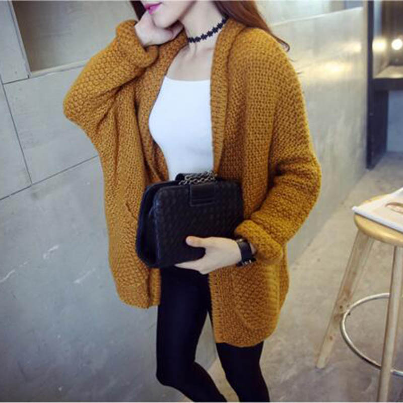 2016 Fall Spring Comfort Cardigans Sweaters Solid Color Sweaters Tops women's sweaters pullover Female blouse poncho pull femme