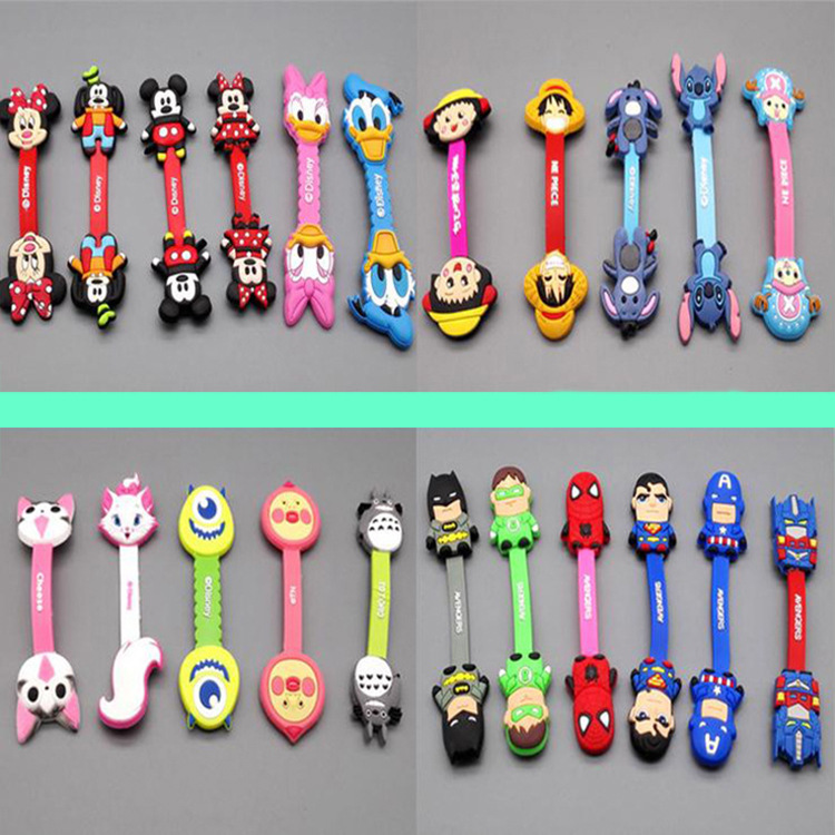 500pcs lot diy cartoon headphone earphone cable wire Charger cord organizer diy