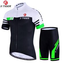 X-tiger conjuntos de ciclismo uniforme da bicicleta verão ciclismo conjunto jérsei estrada bicicleta jerseys mtb bicicleta wear respirável ciclismo roupas(China)