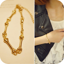 2015 Fashion star metal quality personalized bones lovers bracelet B2001(China (Mainland))