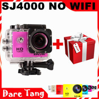 "Free Shipping Original SJCAM SJ4000 Action Camera Full HD 1080P+Diving 30M Waterproof 1.5""LCD Helmet Sport Camera + Free gift"