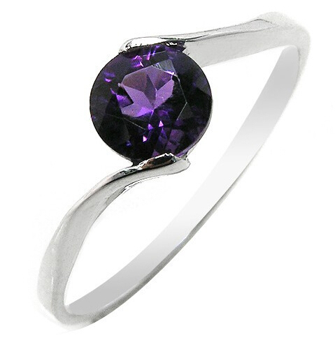 wedding ring high quality Fashion Korean 925 silver with 3 layer platinum plated Amethyst customize size ring SR0083A <br><br>Aliexpress