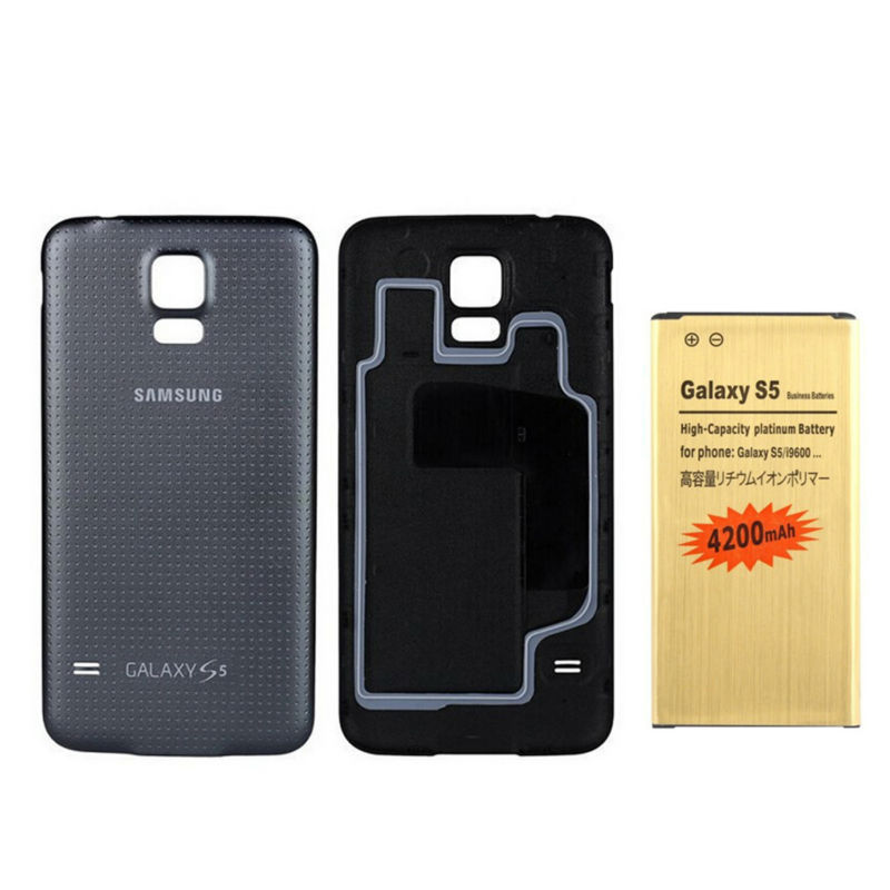 4200mah hight Capacity Battery +Original back cover for samsung galaxy S5 i9600 Free Shipping