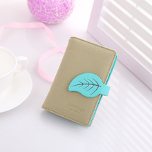 New arrvial Fashion Maple Leaf card holder brand Matter Pu leather ID holder girl credid card wallet(China (Mainland))