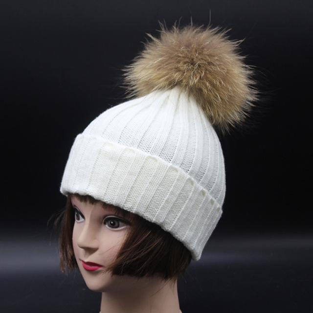 2016 мода норки бейсболка 6 цветов зимняя шапка для девушки шерсть шляпа трикотажные хлопка шапочки cap brand new толщиной крышка