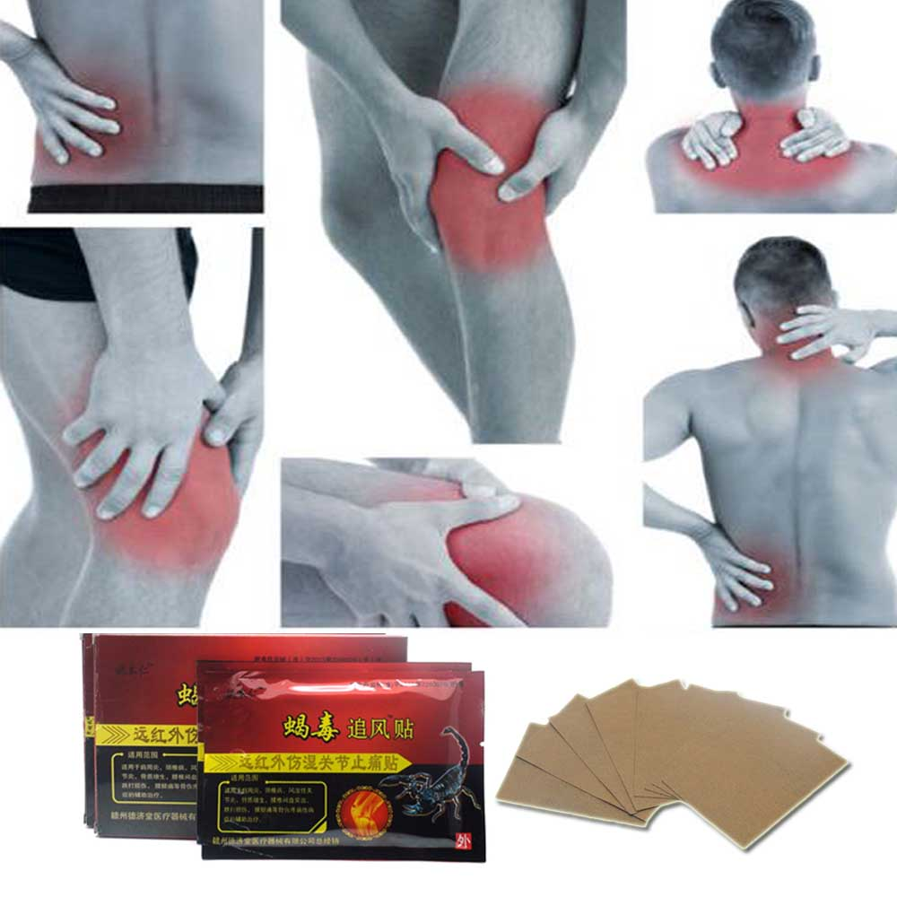 16Pcs/2Boxes Scorpion Venom Relief Pain Patch Ointment For Joints Adhesive Plaster Massager Medicated Orthopedic Plasters C450(China (Mainland))