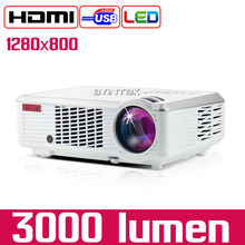 Byintek BL110 Cheapest 1280x800 Home Theater Portable HDMI USB LCD LED 3000lumens  Projector HD 1080P Proyector Projetor Beamer(China (Mainland))