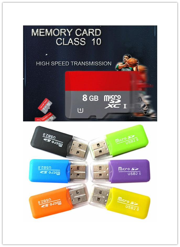 NEW Memory card Card Class 10 TF Memory Card T-Flash Transflash 2GB 4GB 16GB 8GB card reader+adapter free Gift T1(China (Mainland))