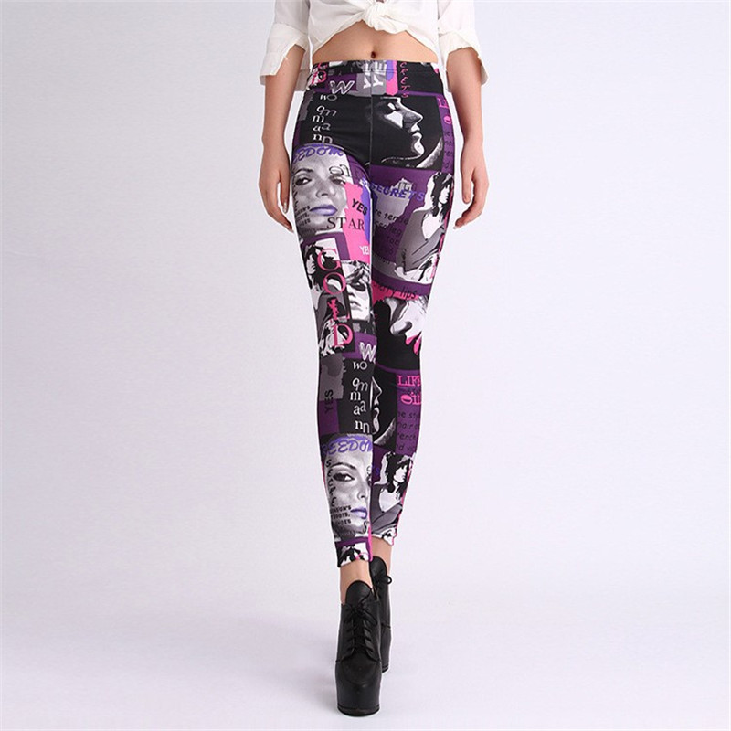 Free Shipping 2015 Hot Sale Women Leggings New Arrival Novelty 3D Printed Fashion Space Galaxy Leggins Fitness Pant(China (Mainland))
