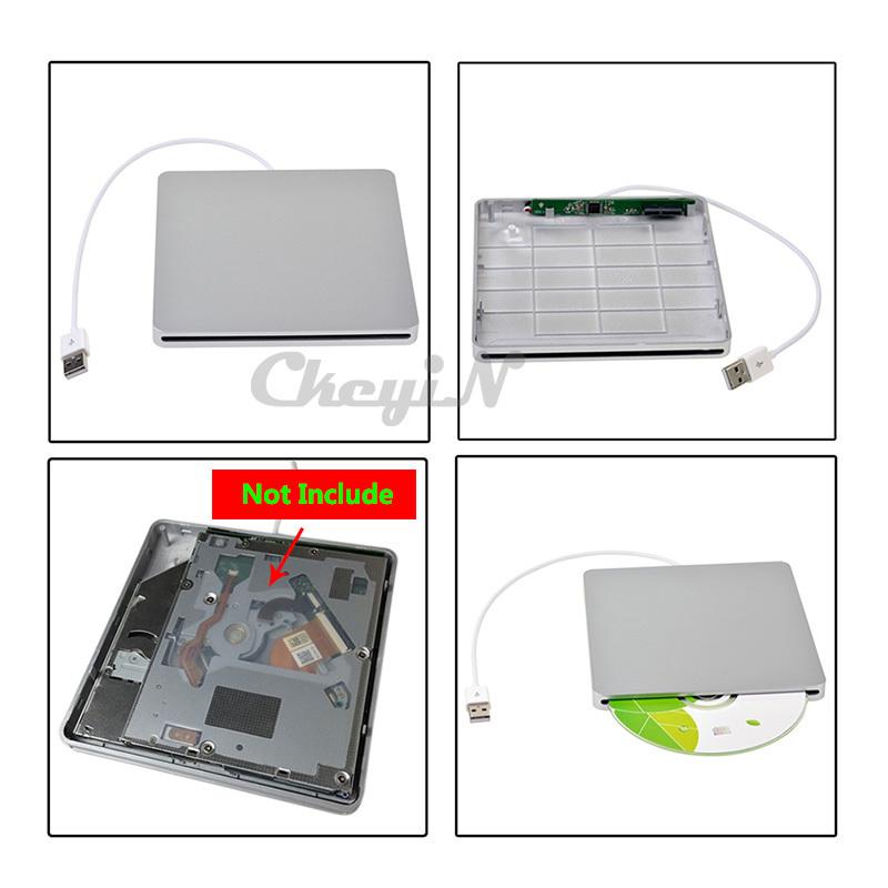 Thin SATA / USB2.0 External Combo Optical Drive CD/DVD Player CD Writer for Apple iMac / Macbook/ Macbook PRO/ Mac SHC06SQ*65(China (Mainland))