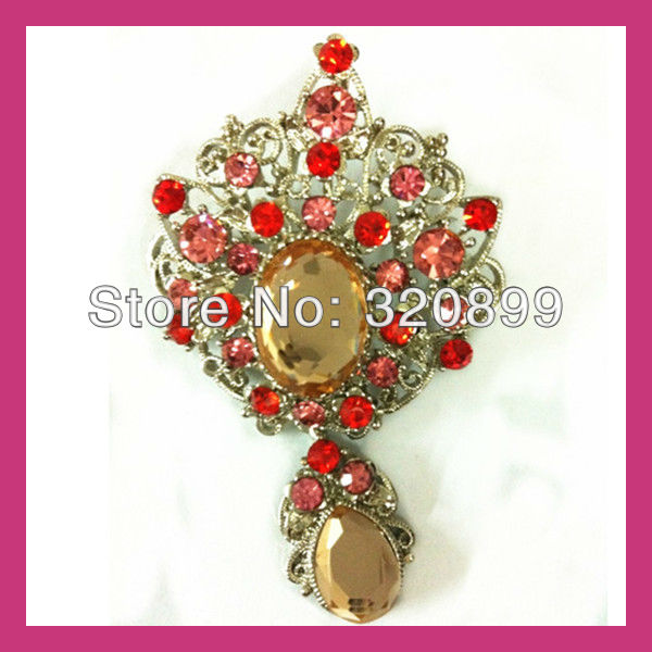 Brilliant Pandent  Rhinestone Brooch ,Brooch Pin With Flatback   -- Price Negotiable for Large Order<br><br>Aliexpress