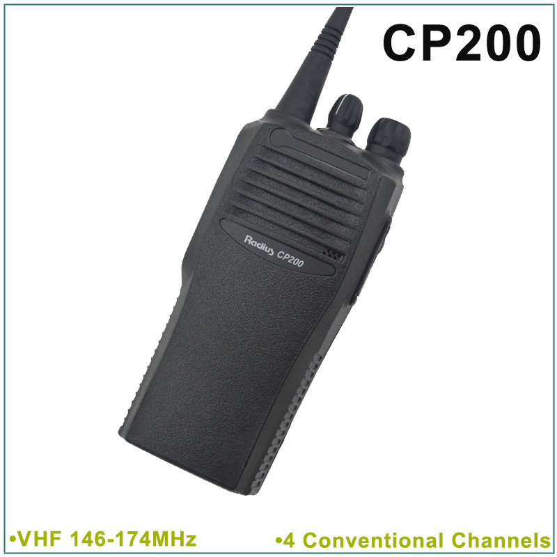 Brand New CP200 VHF 146-174MHz 4 Conventional Channels Portable Two-Way Radio(for motorola)(China (Mainland))