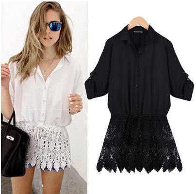 Женские блузки и Рубашки 2015 Desigual Blusa s/2xl женские блузки и рубашки romantic beach blusa femininas2015 sh022