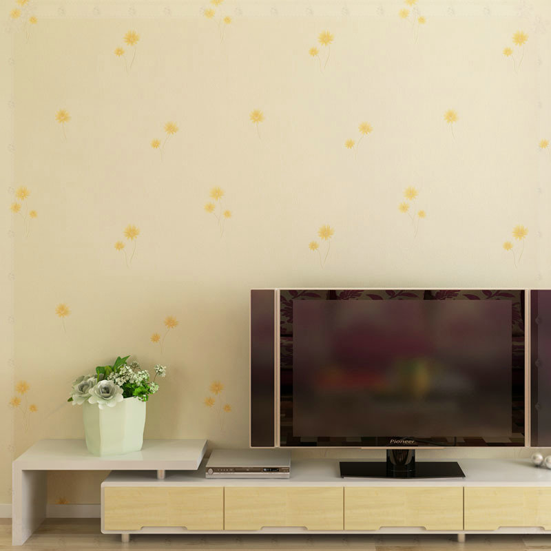 Romantic And Warmth Floral Wallpaper Rolls Small Flowers