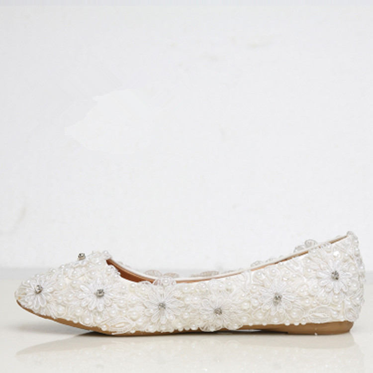 get cheap flat white wedding shoes aliexpress