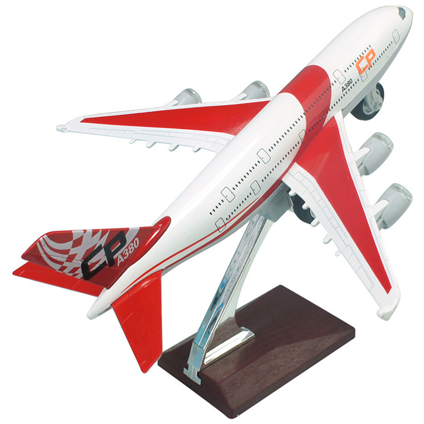 Caipo 1:32 A380 Passenger Plane Model Alloy Toy Airplane Airbus Acousto-Optic Pull Back Gifts For Children High Simulation 21CM(China (Mainland))