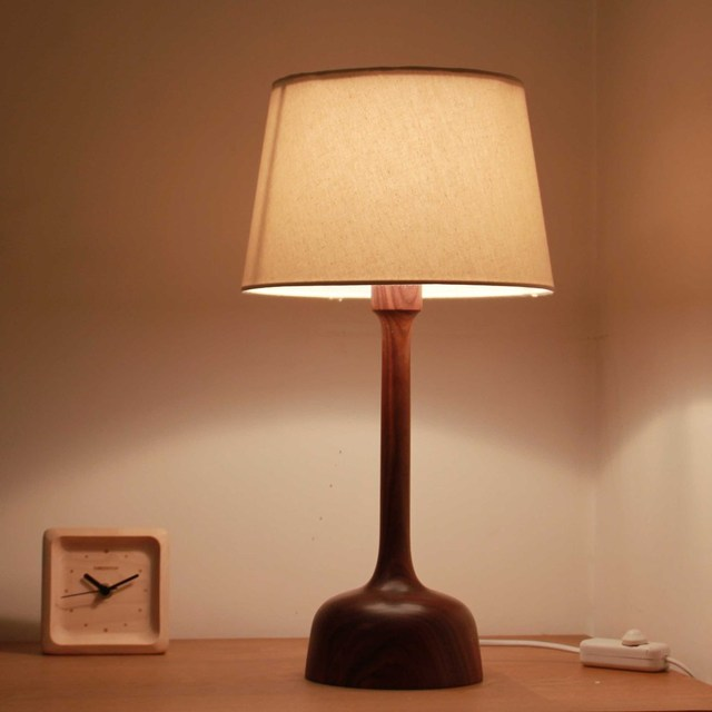 Living Room Lamps E14 Wooden Lamp With Dimmer Switch100