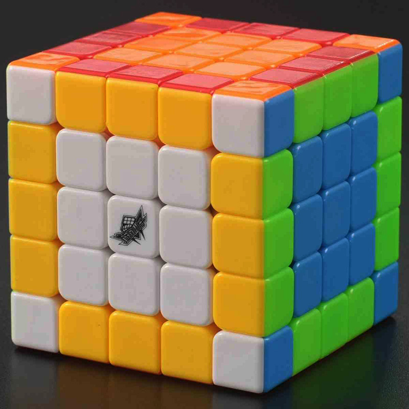Cyclone Boys Mugua Speed 5x5x5 Magic Cube Puzzle Stickerless & Sticker IQ Cube Educational Toys(China (Mainland))