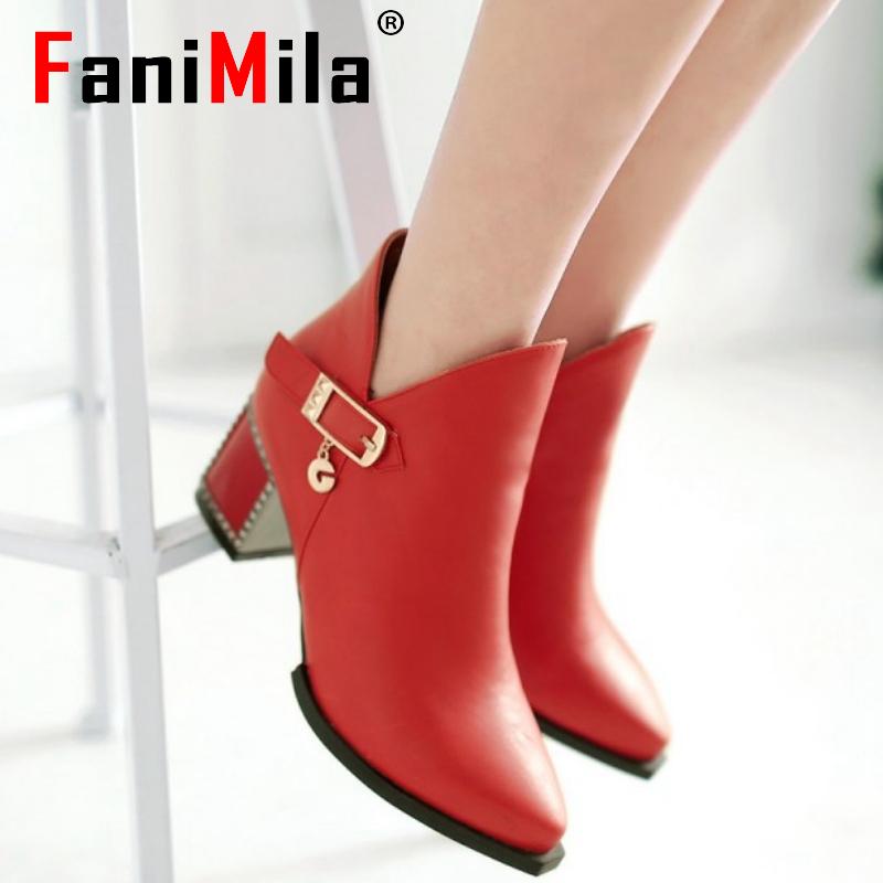 size 31-43 women high heel ankle boots half short boot martin autumn winter botas fashion footwear zipper heels shoes P20531<br><br>Aliexpress