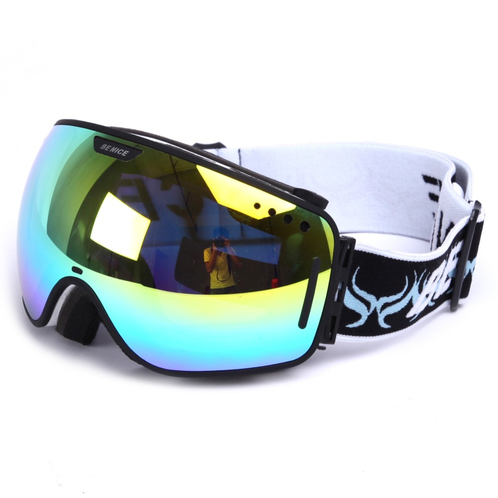 Ski goggles double UV400 anti-fog big ski mask glasses skiing men women snow snowboard goggles GOG-201(China (Mainland))