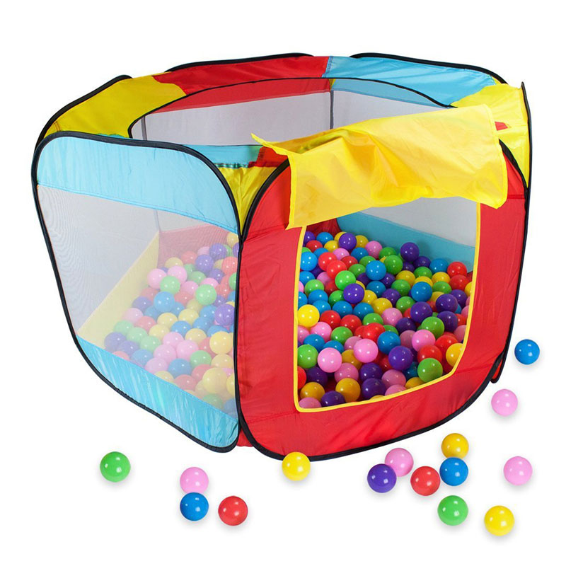 Kids Tent Playhouse Indoor and Outdoor Easy Folding Ball Pit Hideaway Tent For Kids Play Hut Garden Play House High Quality(China (Mainland))