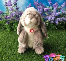 Stuffed Animal Rabbits Doll Plush Toys Simulation Gray Lop Rabbit Children'S Toy Holiday Gifts