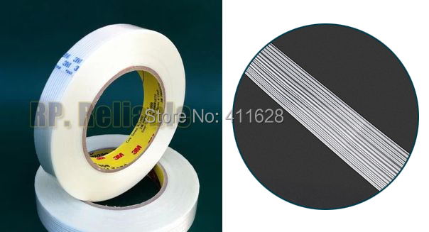 1x 15mm*55M Original 3M 8915 Adhesive Fiberglass Tape High Tensile Strength, Widely for Home Appliance Wood Metal Panel Pack Fix(China (Mainland))