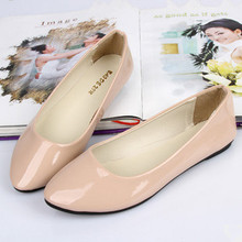 2013 Fashion Purity Patent Women shoes for Lady flat shoes single shoes & black ,white,pink,blue(China (Mainland))