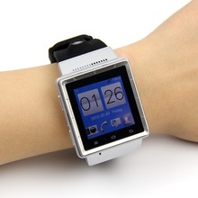 2015 Hot sale 1 55 inches Dual Core 4GB Android 4 0 Smartwatch for iphone Samsung