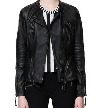 2015 New Autumn Winter Women Brand Leather Jackets Coat Ladies Motorcycle Streetwear Zipper Drop Shipping