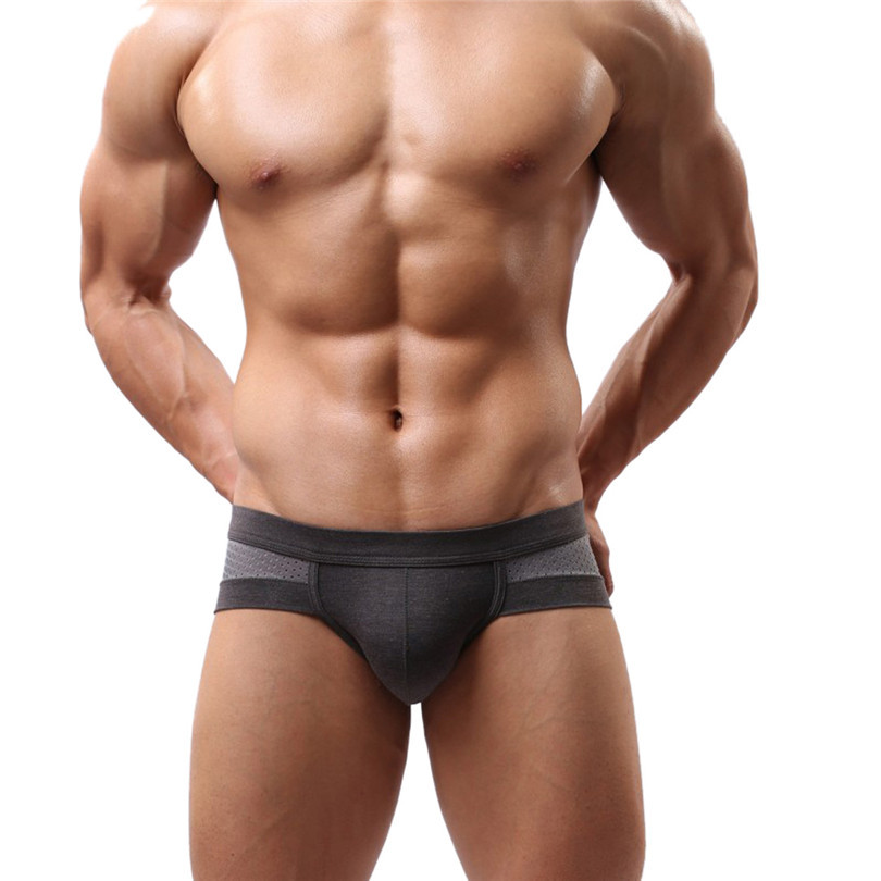 Durable 2015 Summer Style Men's Sexy Cotton Soft short Briefs Fast Shipping