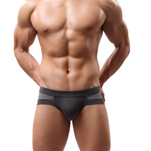Durable 2015 Summer Style Men's Sexy Cotton Soft short Briefs Fast Shipping(China (Mainland))