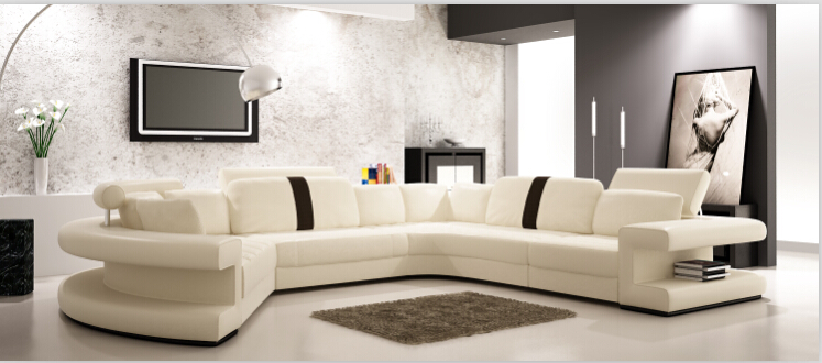 Sofas for living room leather corner sofa for home furniture(China (Mainland))