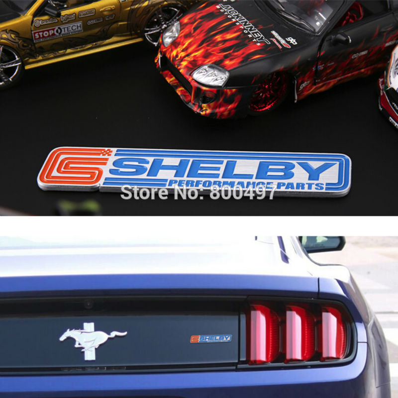 Newest 3D Aluminium Alloy Car Trunk Emblem For Mustang GT Shelby Car Accessories Adhesive Car Logo Car Styling Badge(China (Mainland))