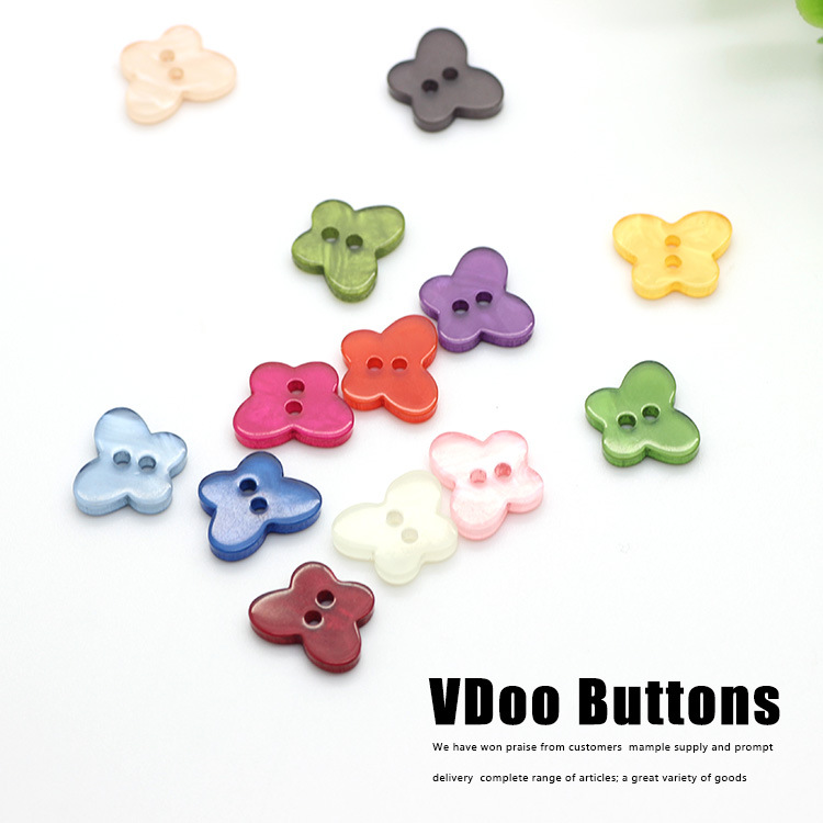 Free shipping special buttons monopoly wholesale candy -colored resin butterfly clasp diy handmade material sewing supplies(China (Mainland))
