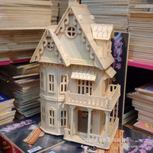 Wooden Dollhouse handcraft 3D Miniature kits