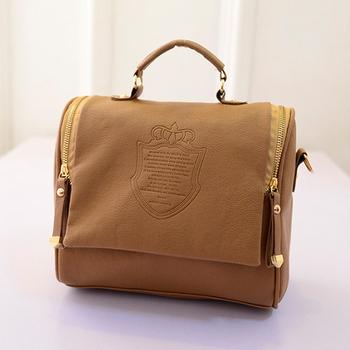 Сумки штамп один европейский и америка большой короной из англия двойной кран-выдвижной мешок ретро сумки