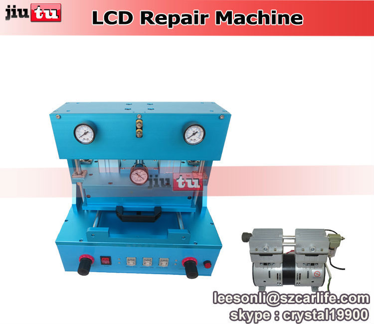 Automatic OCA vacuum laminator machine with oilless vacuum pump for broken iphone or samsung LCD repair lamination(China (Mainland))