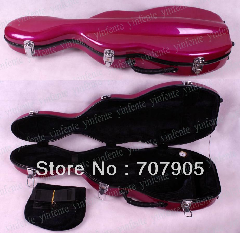 1x Violin case 4/4 Glass fiber Waterproof Light Durable Dropshipping Wholesale reinforced Pink<br><br>Aliexpress