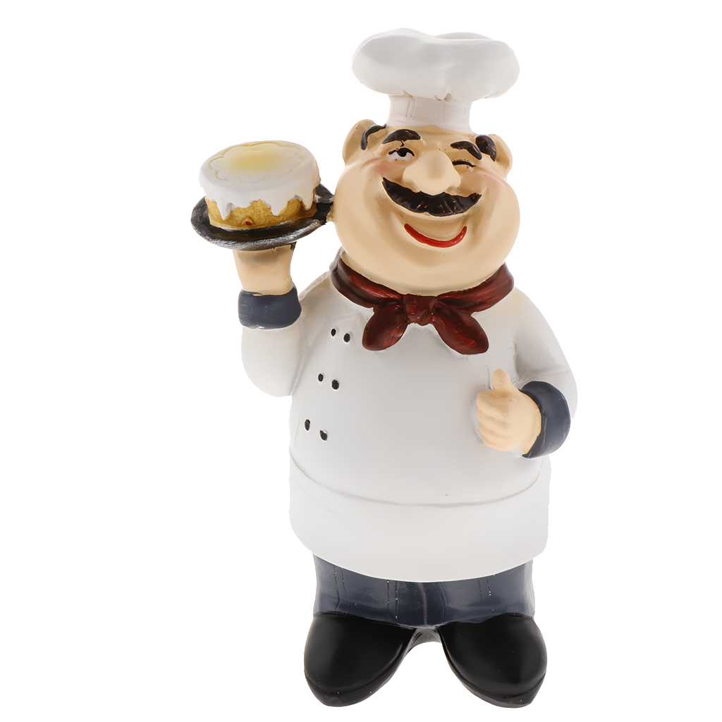 1 Set Of Chef Figurines Cook Statue French Chef Ornaments