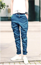 New Korea Men's Baggy Cargo Harem Pants Men Jeans pants overalls casual Trousers 3 colors available Asian size(China (Mainland))