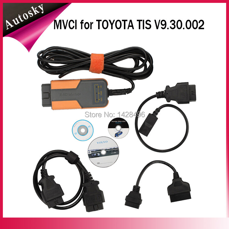 Factory Price Top-Rated Original XHORSE MVCI 3 IN 1 TIS V9.30.002 MVCI for TOYOTA TIS MVCI Car Diagnostic Scanner Best Quality(China (Mainland))