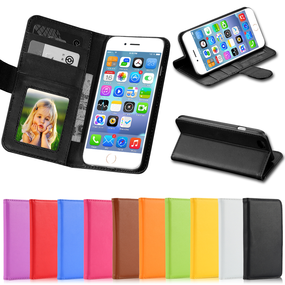 5C Luxury PU Leather Case Photo Frame Wallet Book Cover For Iphone 5C Credit Card Slot Phone Shell Full Protect Flip Cover Case(China (Mainland))