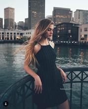 2016 Sexy Brandy Melville Style Plaid Lattice Pattern Slim Spaghetti Strap Mini A-Line Dress New Trendy Casual Women Black femme