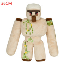 2016 NEW Minecraft Plush Toys 36CM Minecraft Iron Golem Sword Pickaxe Stone Bed Box Model Toys Action Figure Kids Toys For Gift(China (Mainland))