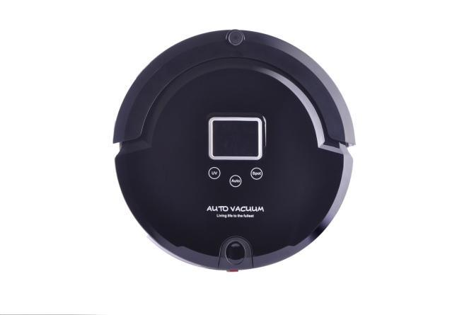 (Free to Russia) 4 In 1 Multifunctional Robot Vacuum Cleaner, LCD Screen,Touch Button,Schedule Work,Virtual Wall,Auto Charging